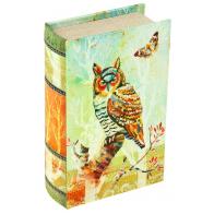 Сейф-книга Цветная сова (17 см)
