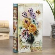 Сейф-книга Нежные цветы с пчелами