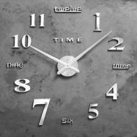 Настенные часы-наклейка Клермонт (120 см)
