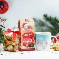 Подарочный набор Кружка + чай + конфеты Для зимних вечеров