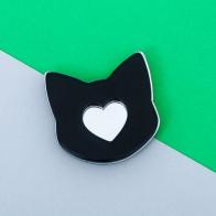 Значок Кот Сердце