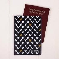Обложка для паспорта Микки Маус