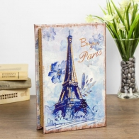 Сейф-книга Эйфелева башня в нежно-голубых тонах зеркальная (24 см)