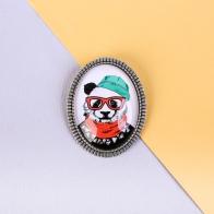 Значок Панда (металл)