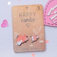 Значки Happy Family Лисички