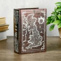 Шкатулка-книга Старая карта (16 см)