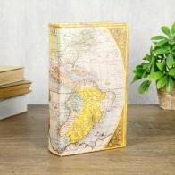 Сейф-книга Старинная карта (21 см)