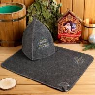 Банный набор Счастливого Нового года (шапка+коврик)