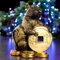 Копилка Мышь с монетой