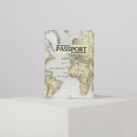 Обложка для паспорта Ретро карта