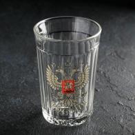 Стакан граненный Герб России (250 мл)