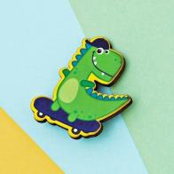 Значок Динозавр