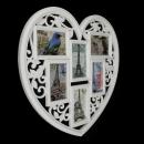 Фоторамка Ажурное сердце (6 фото)
