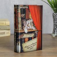 Сейф-книга Спящий котёнок (21 см)