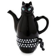 Чайник с кружками Кошка