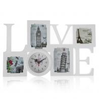 Часы-фоторамка Travel Love (4 фото)