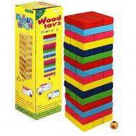 Настольная игра Jenga (цветная)