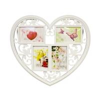 Фоторамка Ажурное сердце (4 фото)
