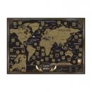 Карта мира со скретч-слоем (черная)