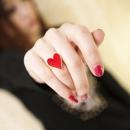 Кольцо Красное сердце