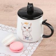 Кружка с ложкой Cat