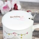 Кружка с ложкой Happy Birthday