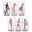 Набор стаканов Pin-up girls (6 шт)