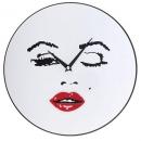 Настенные часы Монро с красными губами