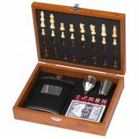 Подарочный набор Фляжка+шахматы