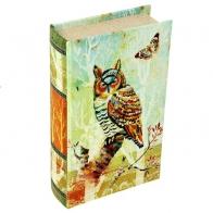 Сейф-книга Цветная сова (21 см)