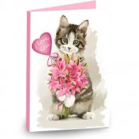Шоколадная открытка Обнимяу (мини)