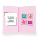 Шоколадная открытка С днём рождения (единорожек)