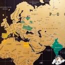 Скретч-карта мира Black